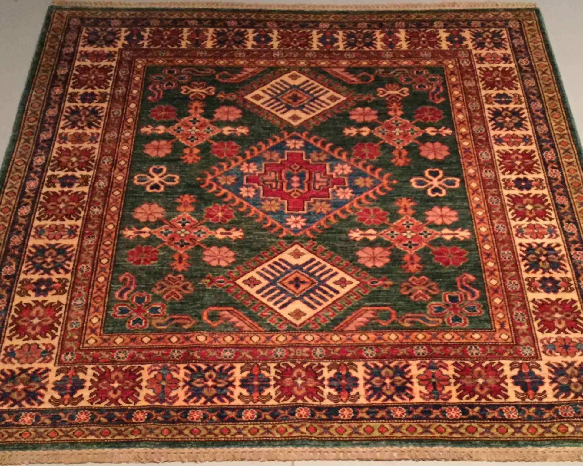 Afghan Kazak - Circa 2000'sSize Measurements: 147cm x 148cm