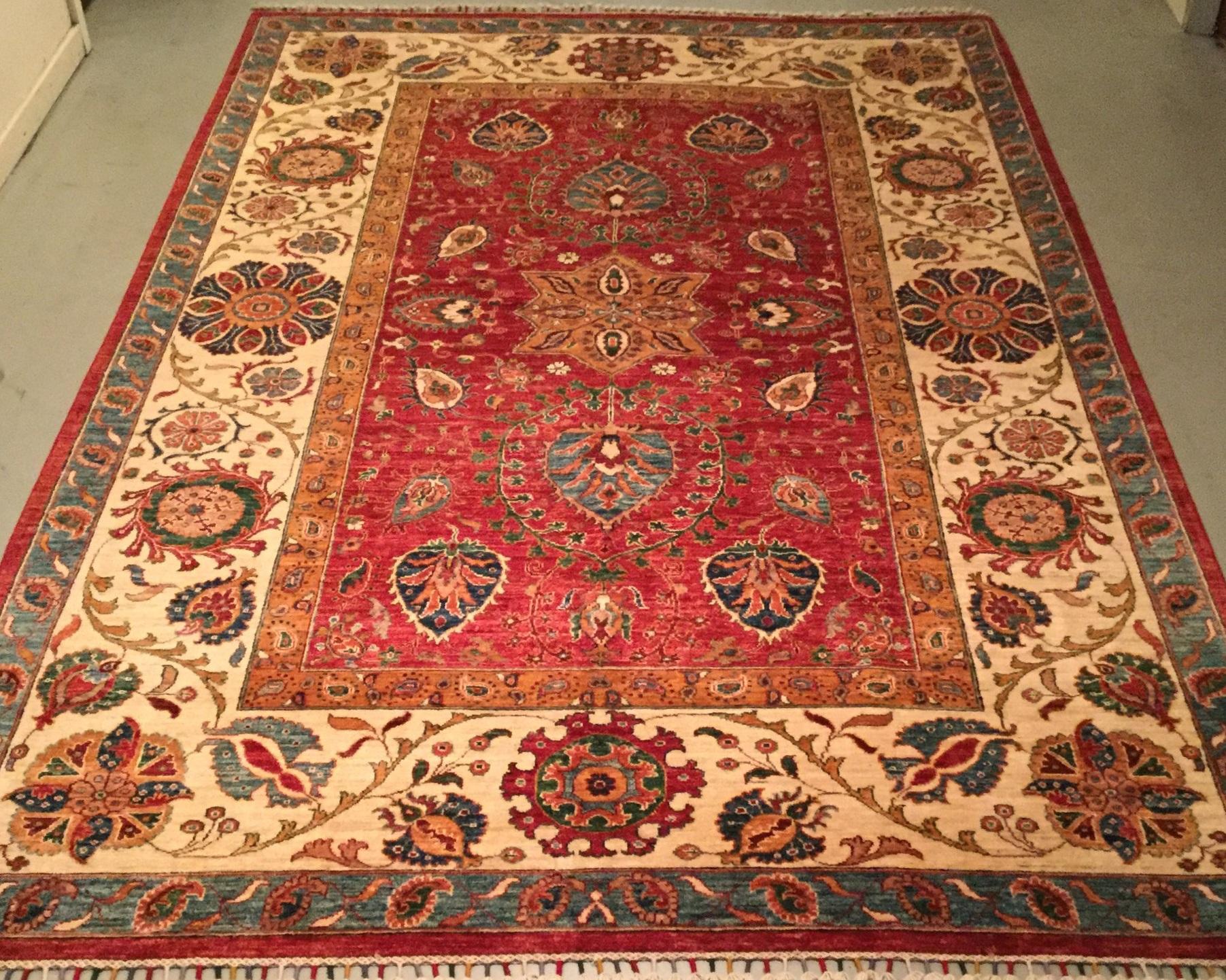 Traditional Afghan Kazak    Size Measurements: 299cm x 203cm