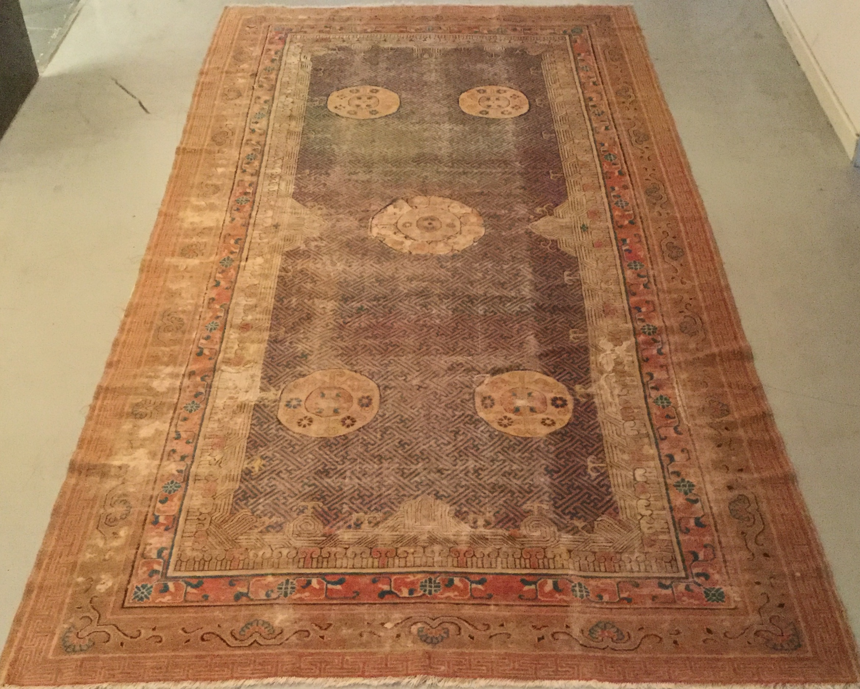 Antique Chinese Samarkand Restoration -