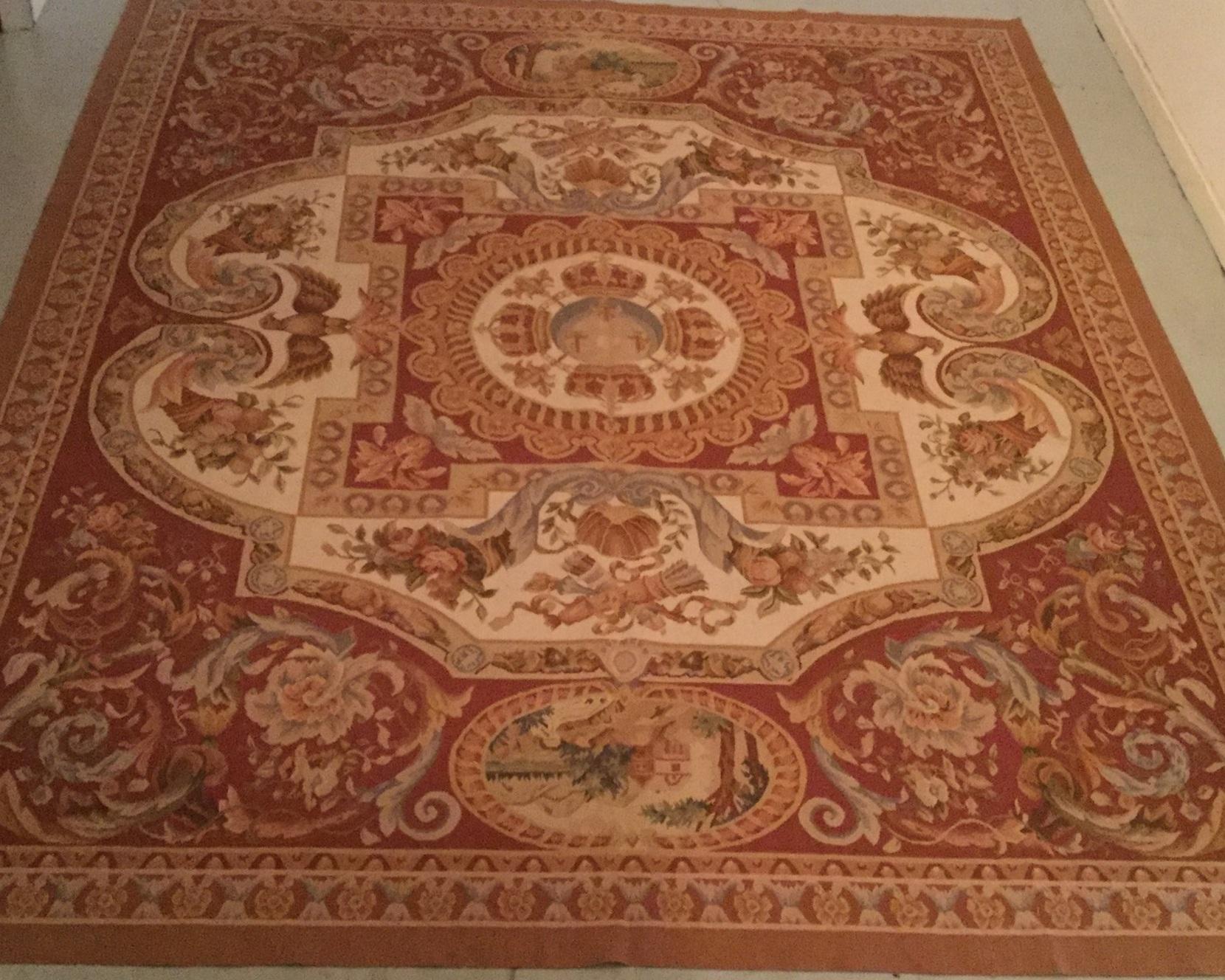 Antique Aubusson - Size Measurements: 305cm x 244cmCirca 1900's