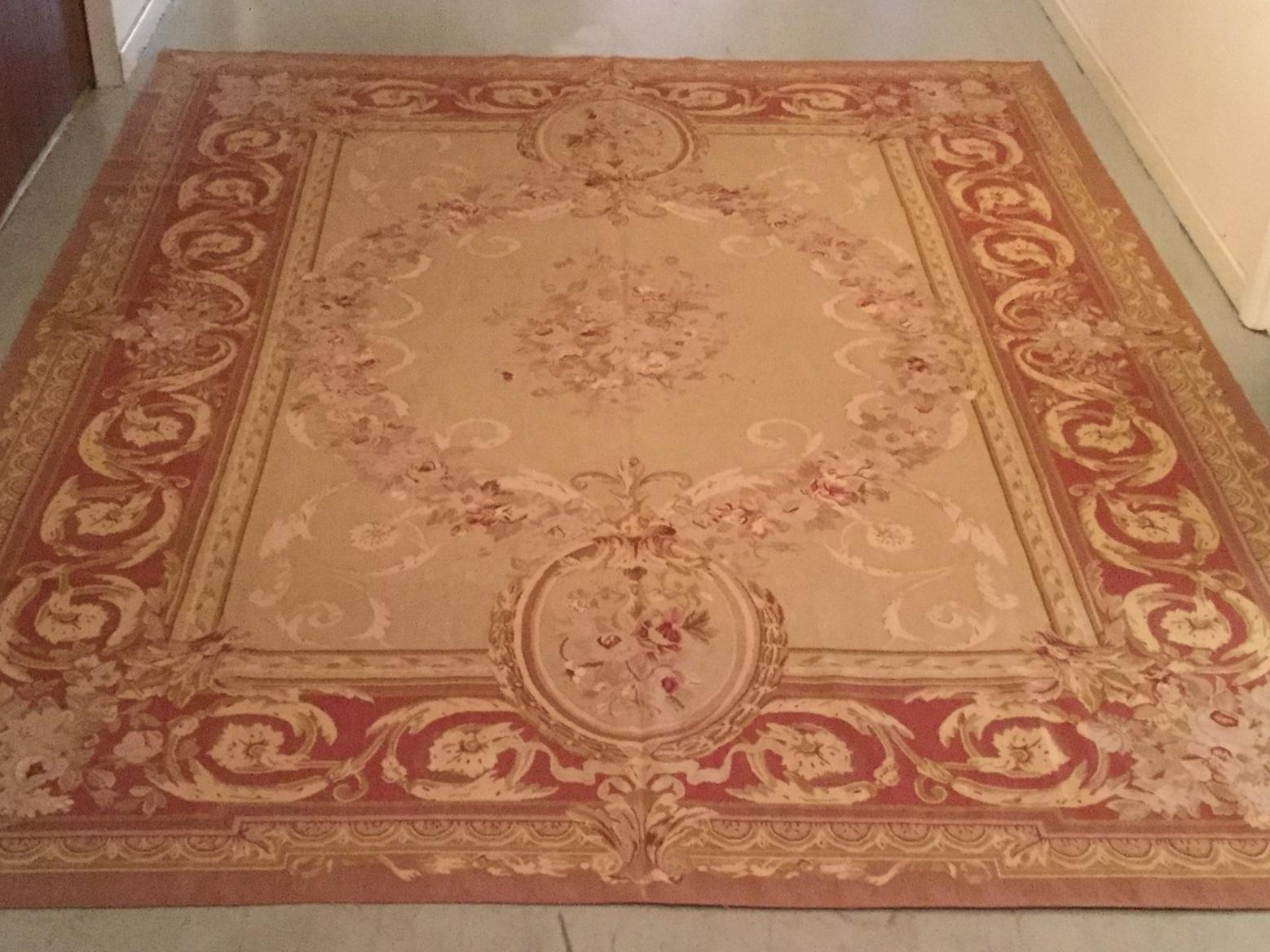Antique Aubusson - Size Measurements: 374cm x 272cmCirca 1900's
