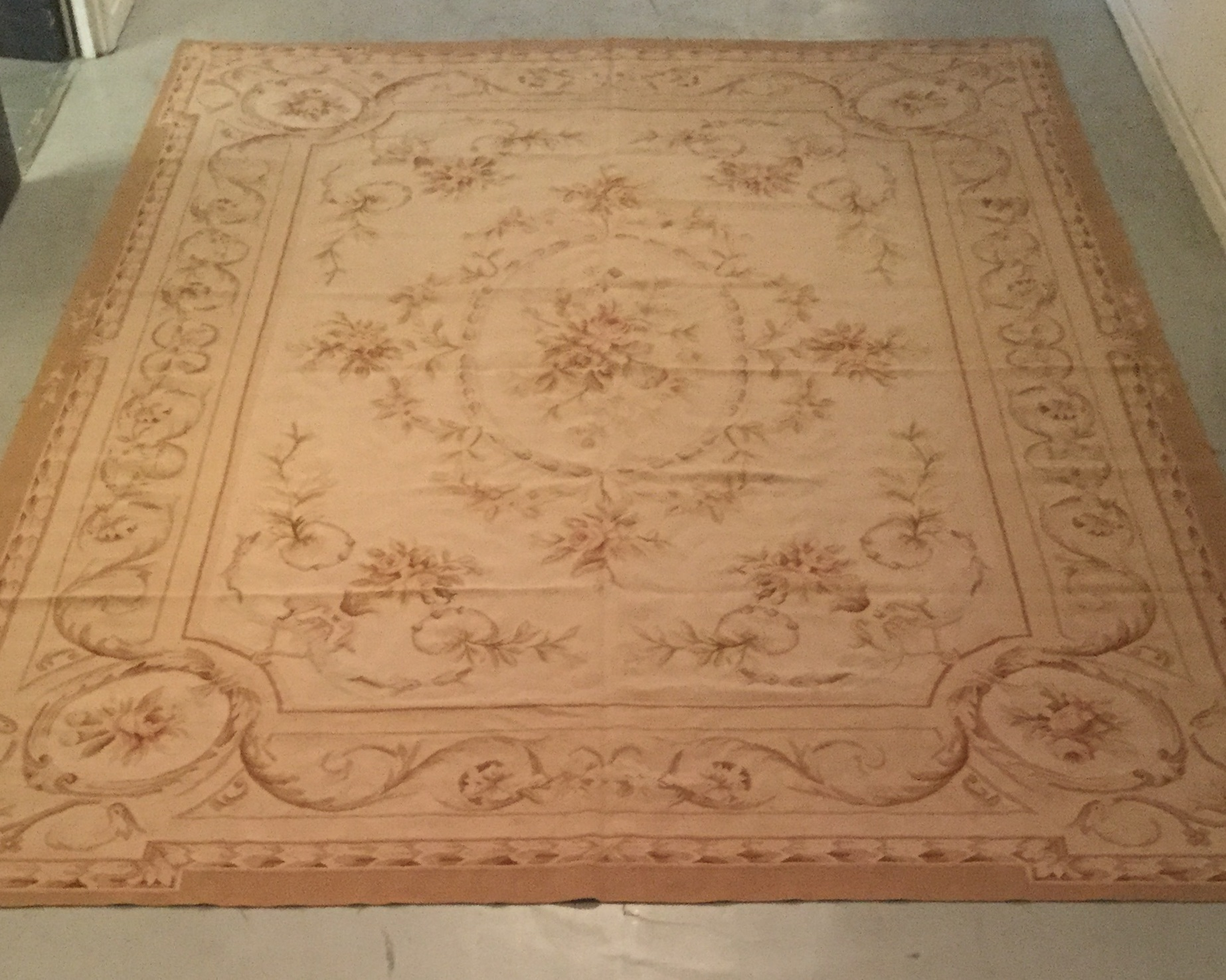 Antique Aubusson - Size Measurements: 358cm x 256cmCirca 1900's