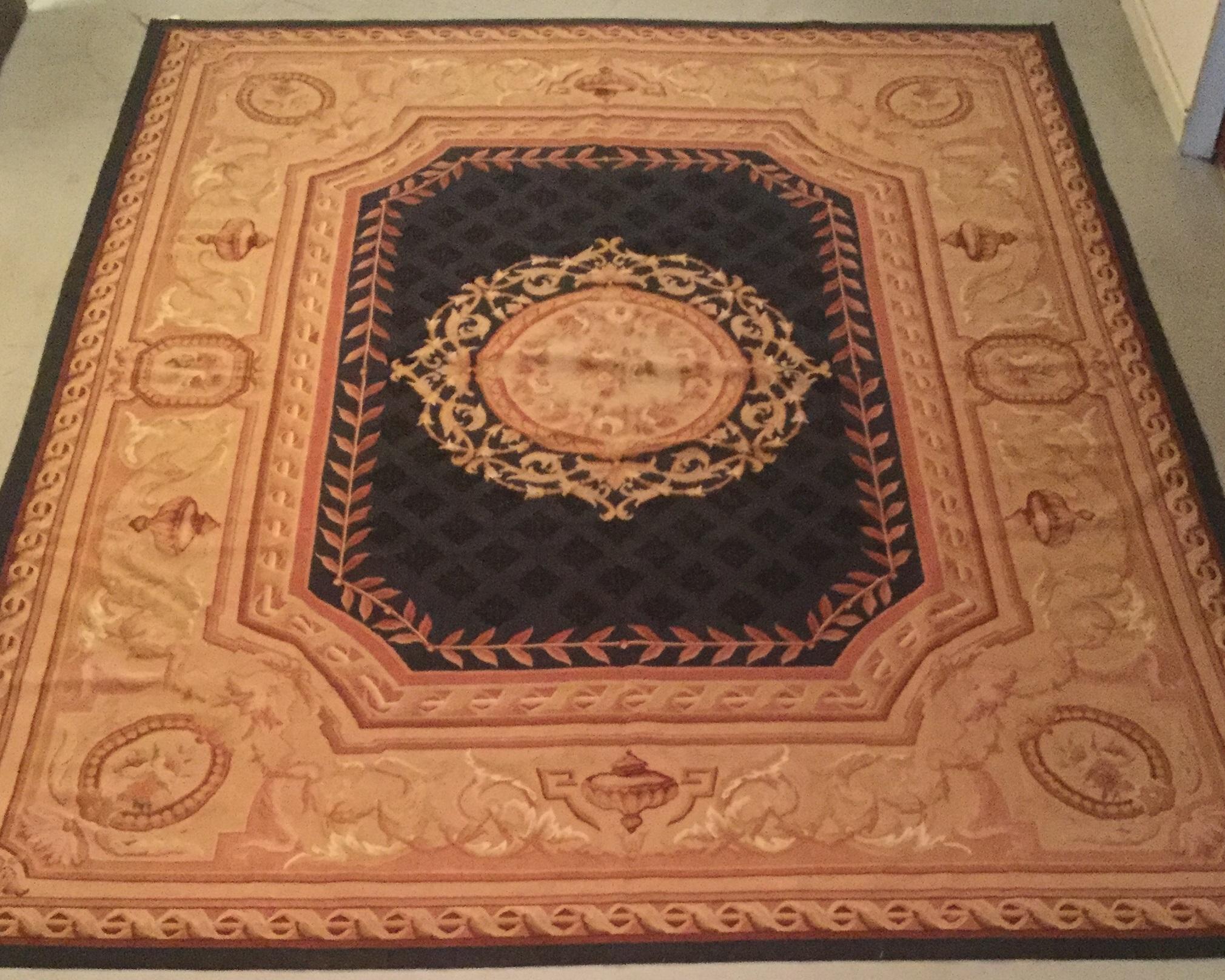 Antique Aubusson - Size Measurements: 305cm x 249cmCirca 1900's