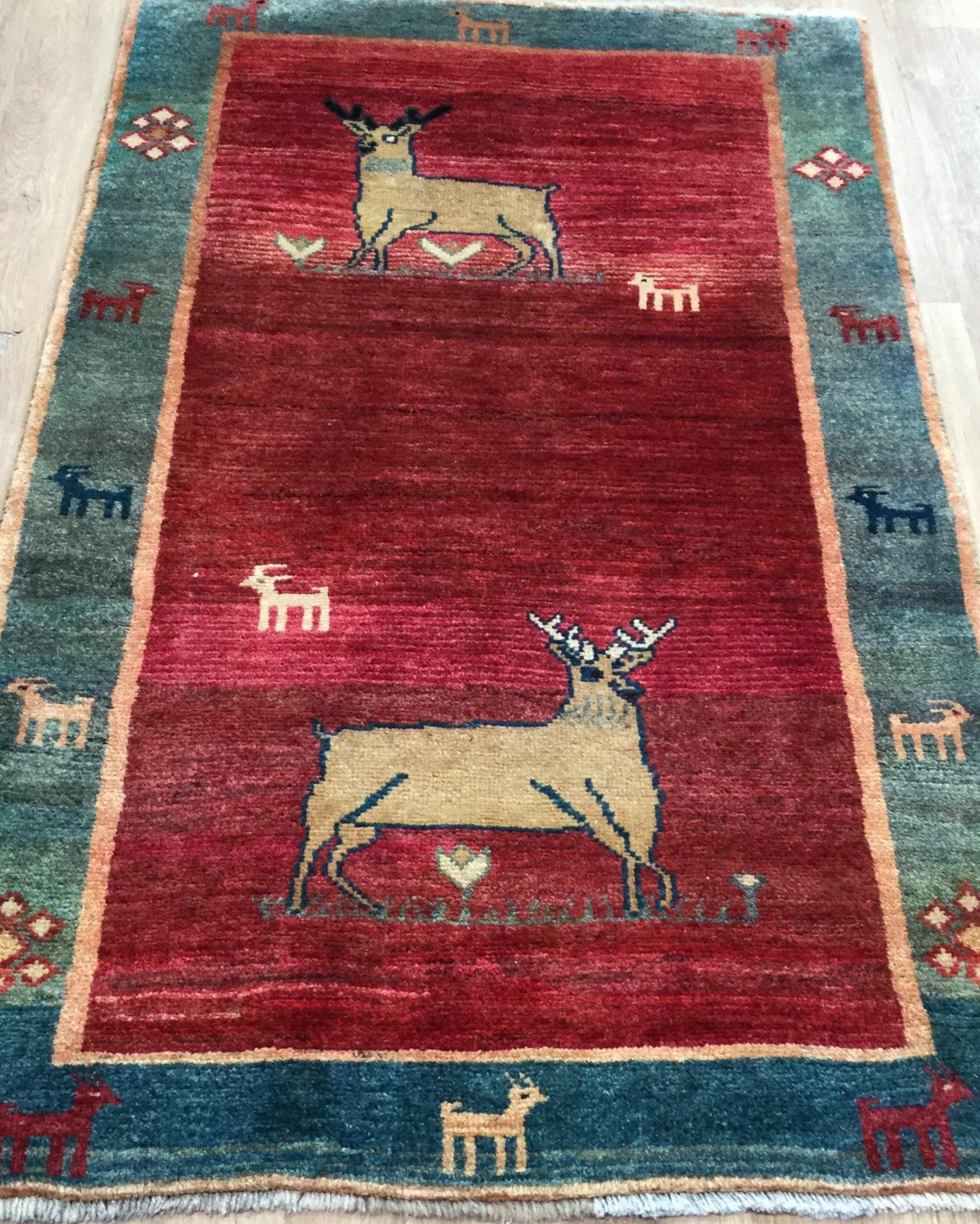 Afghan Gabbeh - Circa 2000'sSize Measurements: 165cm x 100cm