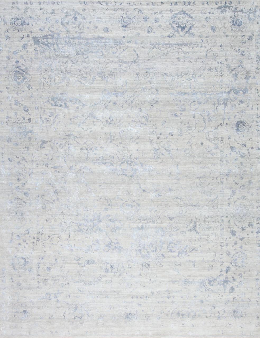 Amour Reserve - Blue - Hand Spun Wool and SilkCirca 2000'sSize Measurements: 467cm x 338cm