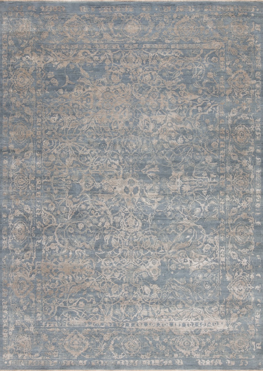 Amour Reserve - Thrill (Powder Blue) - Hand Spun Wool and SilkCirca 2000'sSize Measurements: 378cm x 272cm