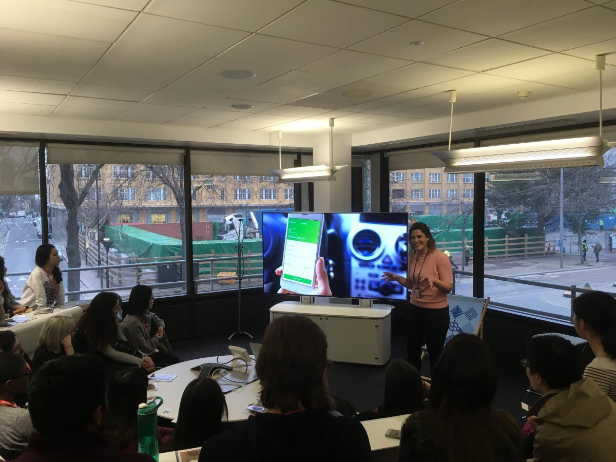 UAL MA Interaction Design at IBM iX London Studio 2018.