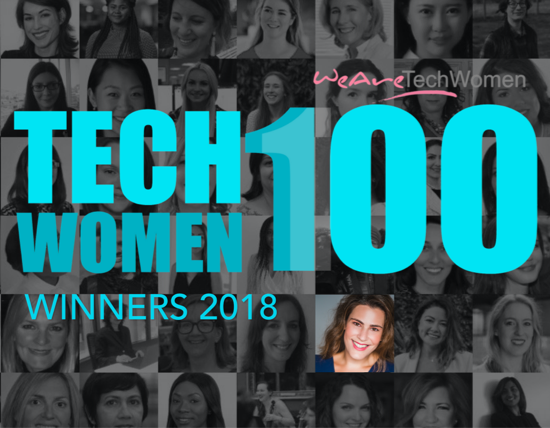 We Are Tech Women Top100 2018   WeAreTechWomen Awards highlight the achievements of 100 women below senior management in Technology in the UK.