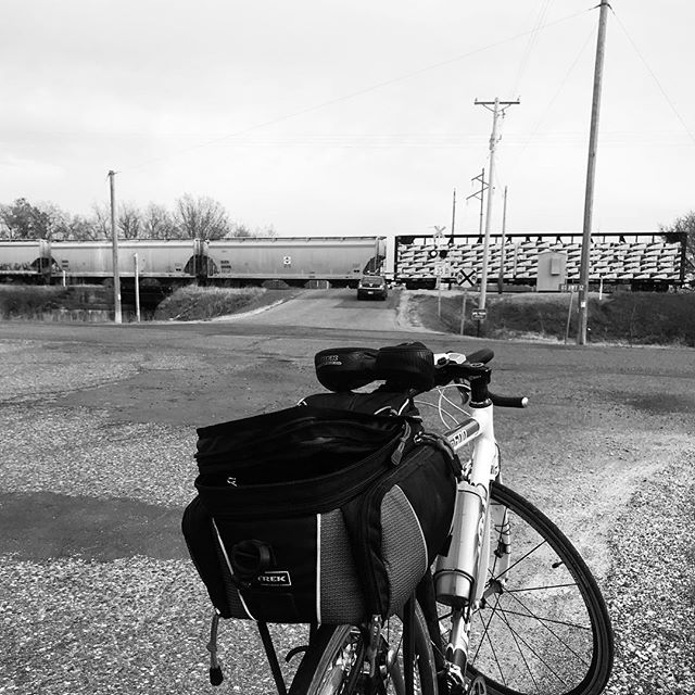 Had to stop for traffic during my ride tonight...I'm pretty sure the train has the right of way!  #roadcycling #roadbikelife #outdoorlife #fitnessgoals #personalgrowth #personaldevelopment