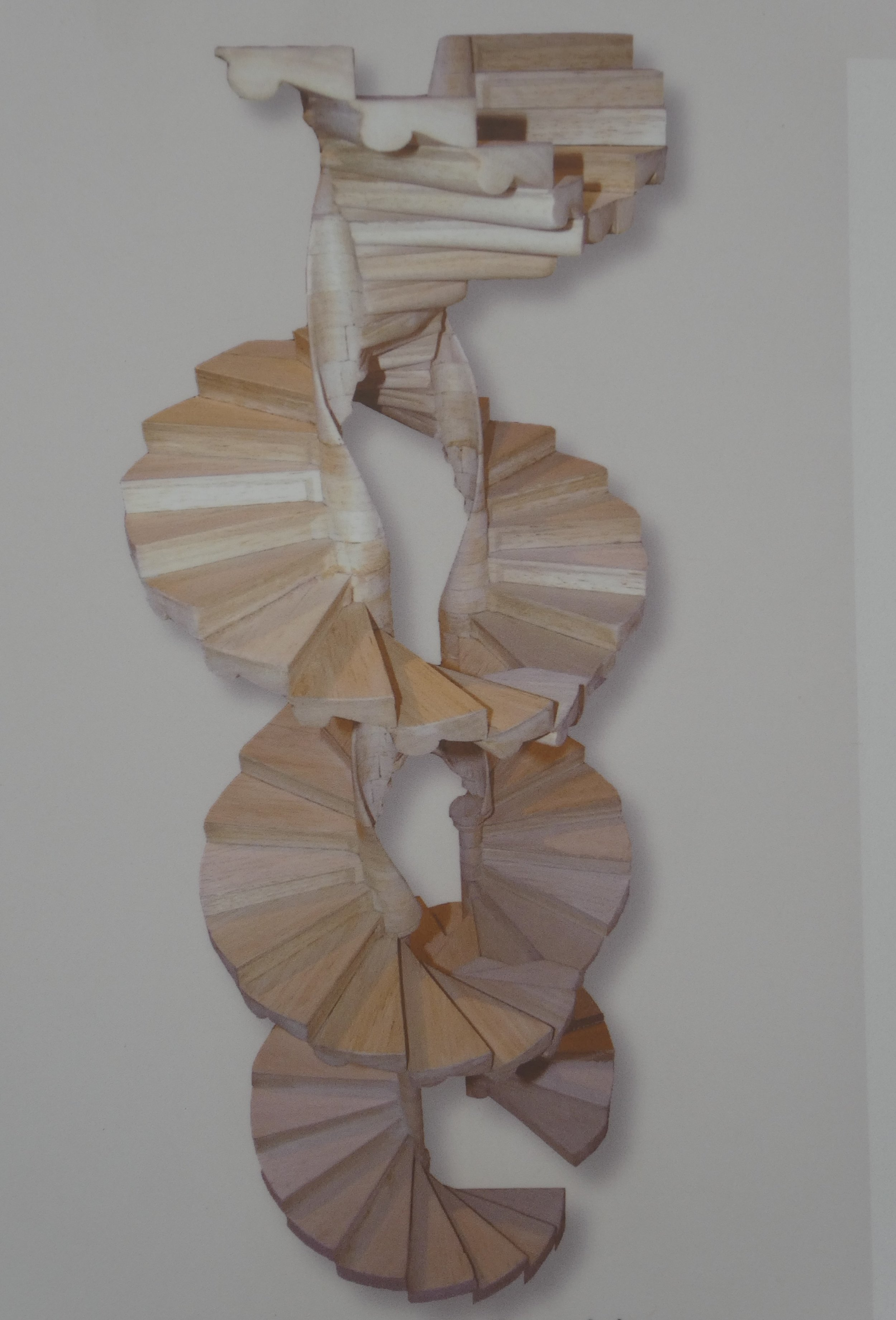 Model of double spiral staircase in Graz, Austria
