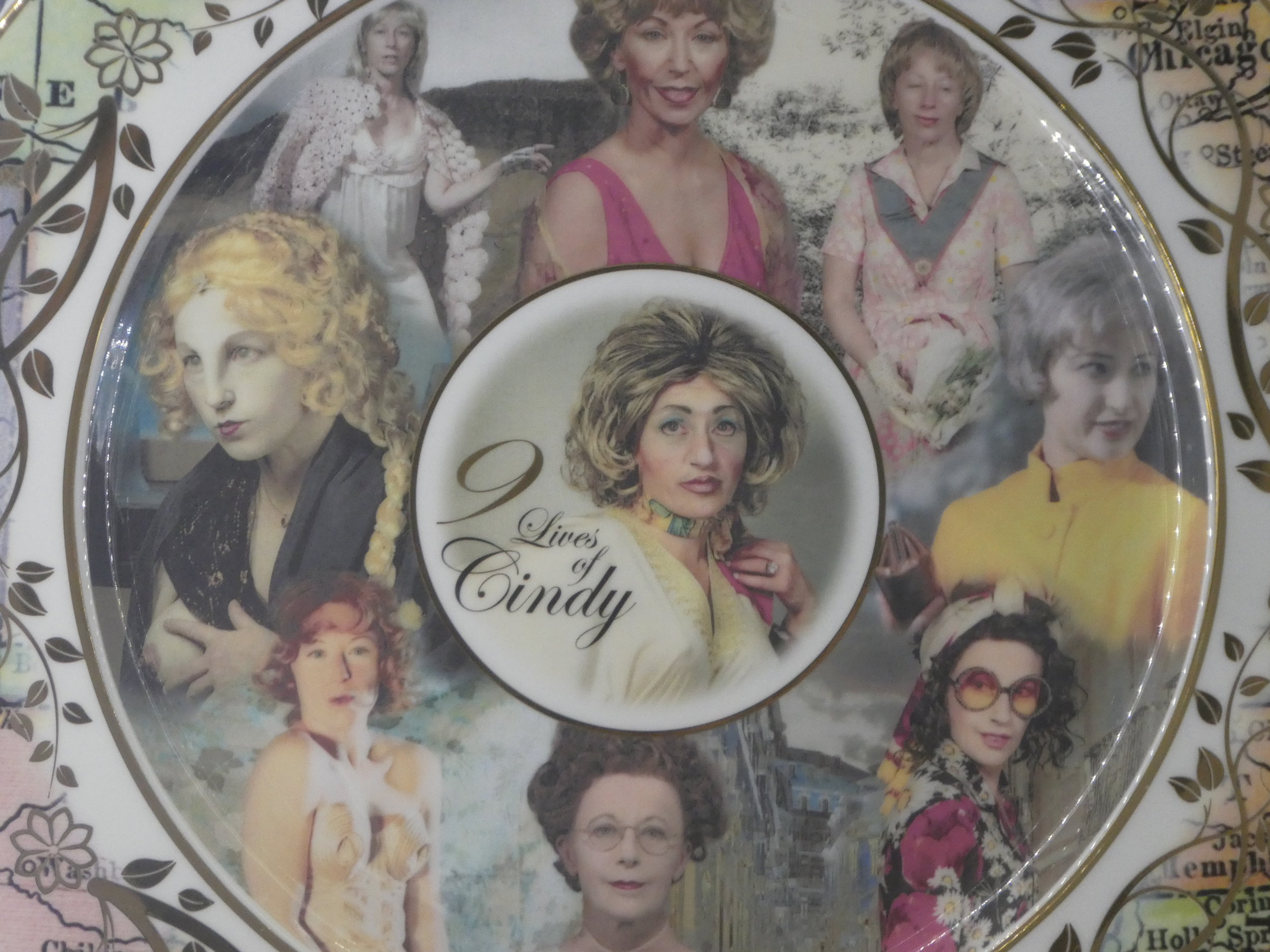 Cindy Sherman souvenir porcelain plate in the National Portrait Gallery shop (price £450)