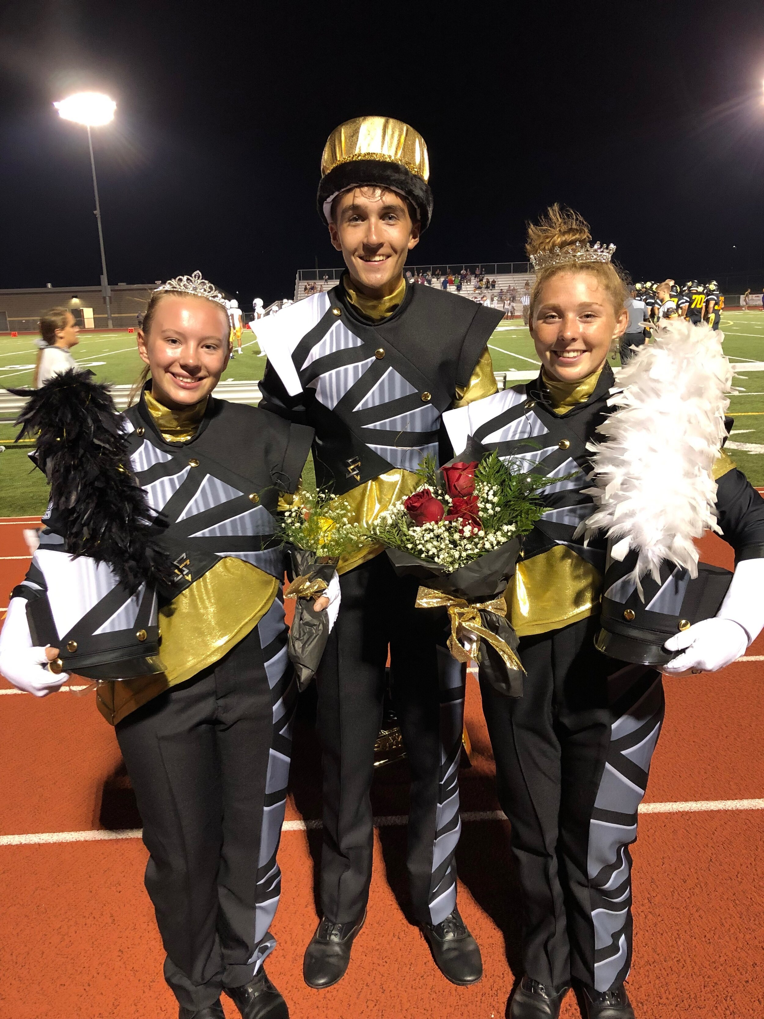 Autumn Bauer, Will Hooton, Sarah Bradbury, Seniors   Royalty Sweep, 2019 Activities Court