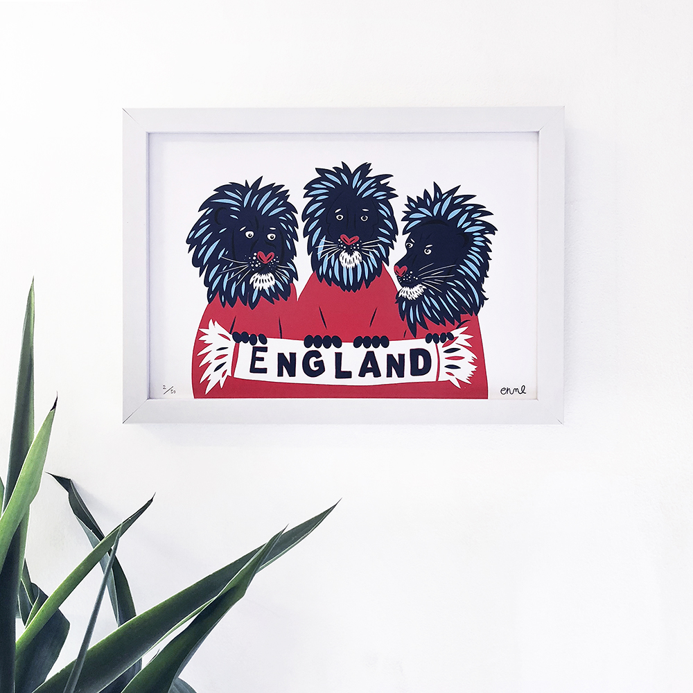 Three Lions - on wall