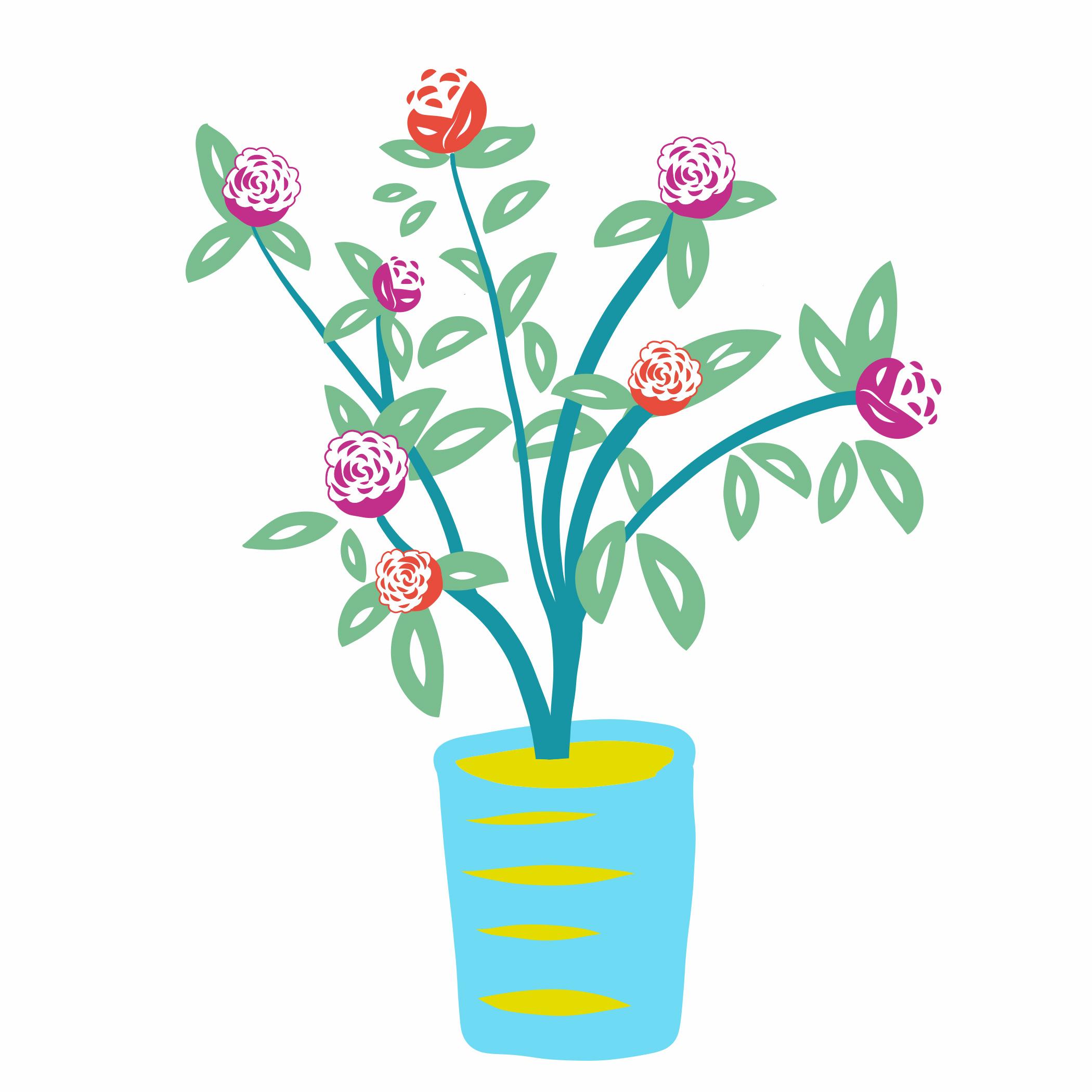 Flower Pot (Roses)