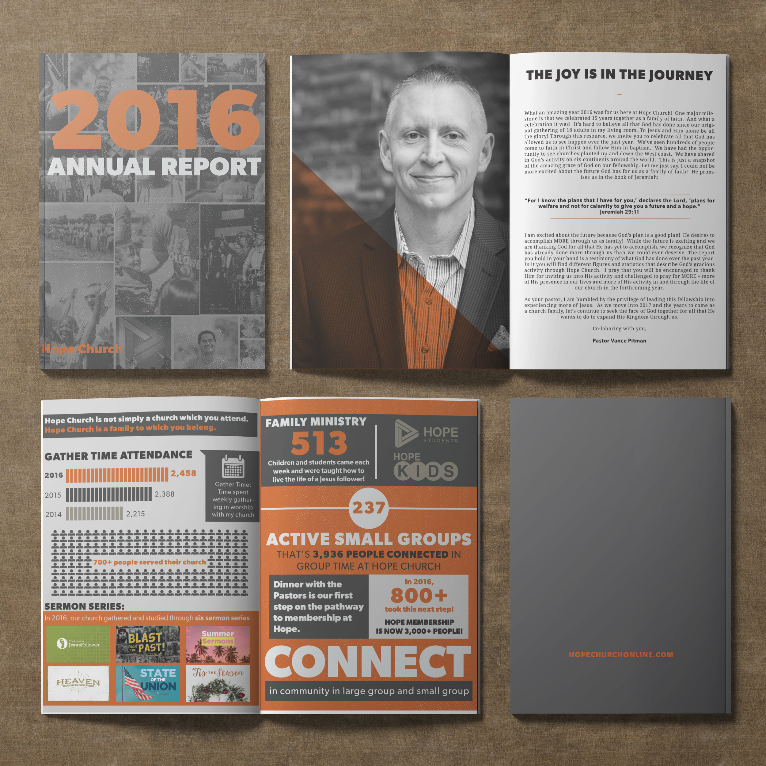 Annual Report design for Hope Church