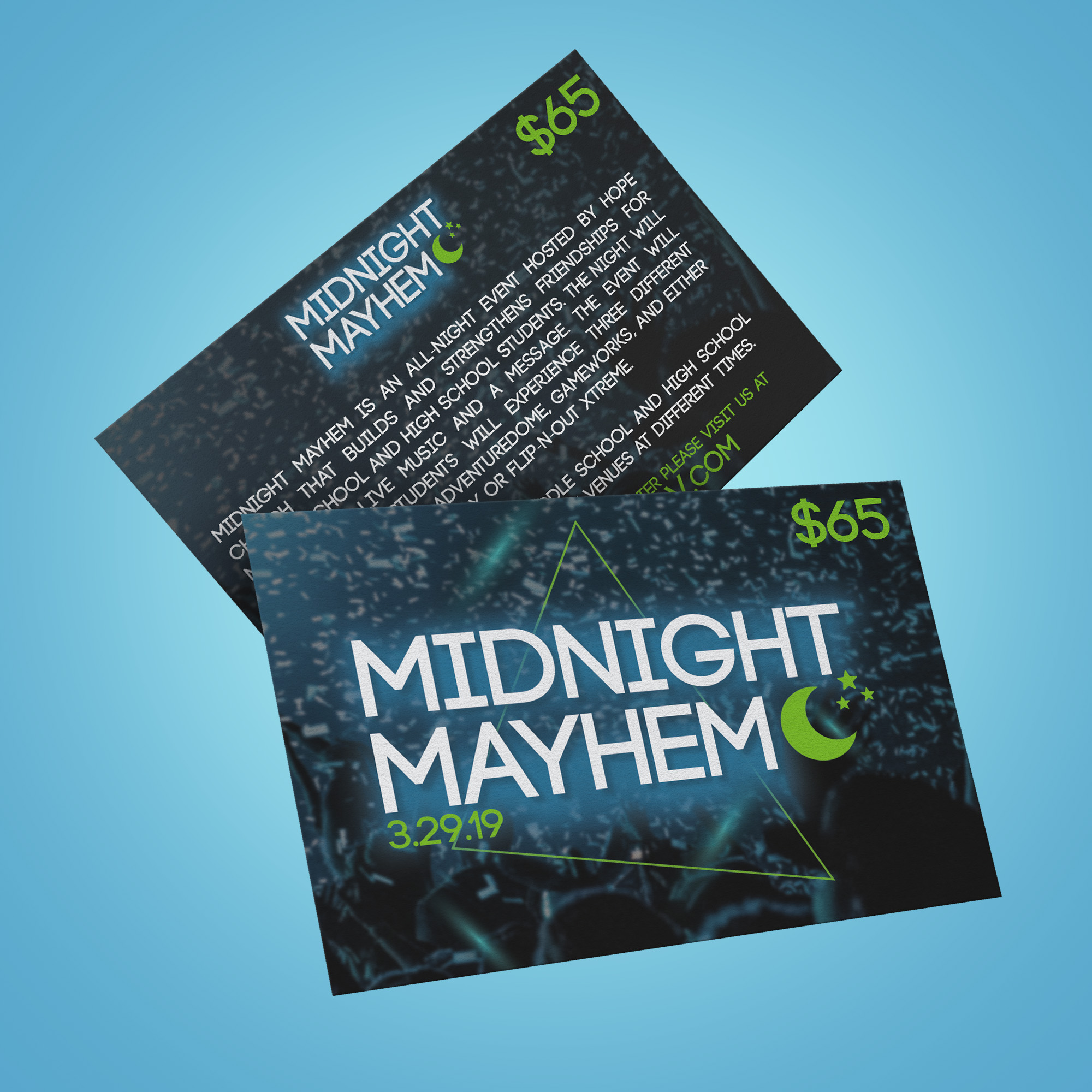 Student ministry event flyer