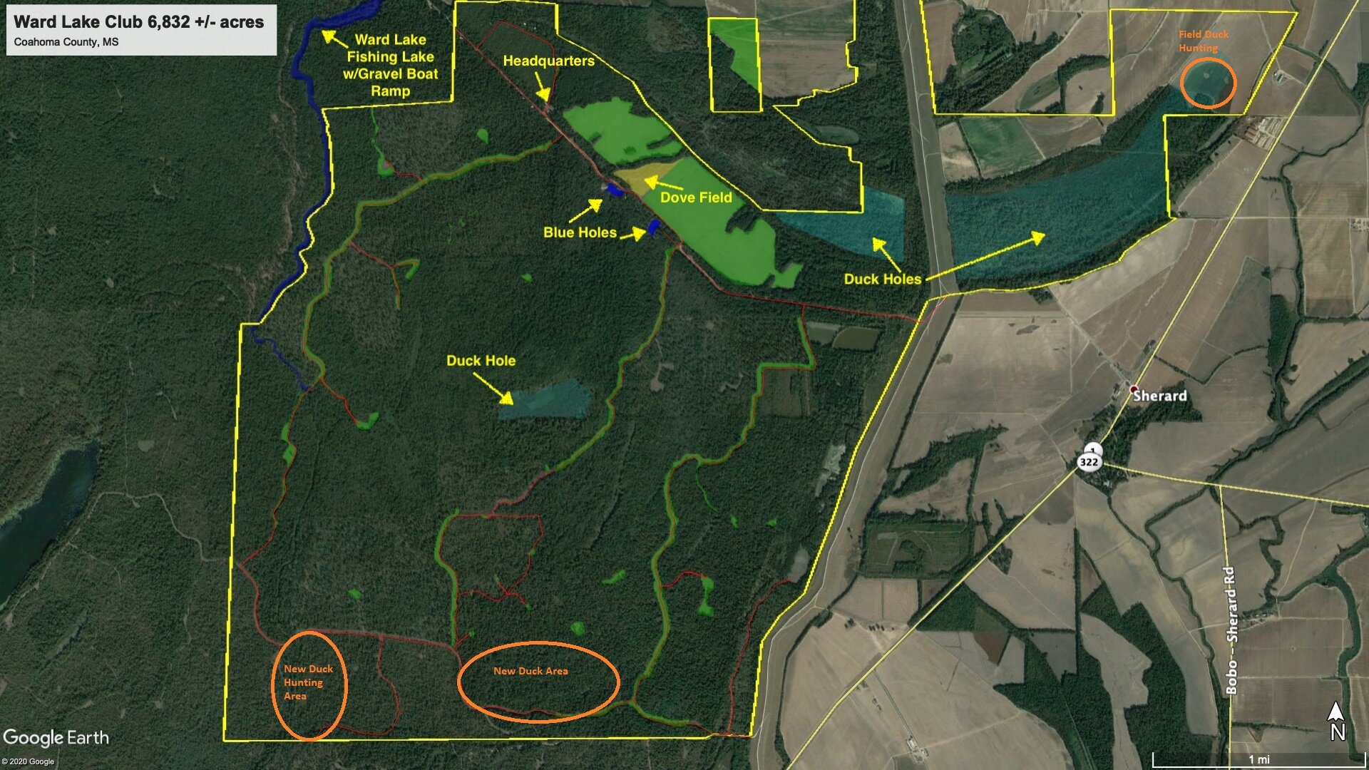 Ward Lake Aerial - Road Map with Duck Hunting copy.jpg
