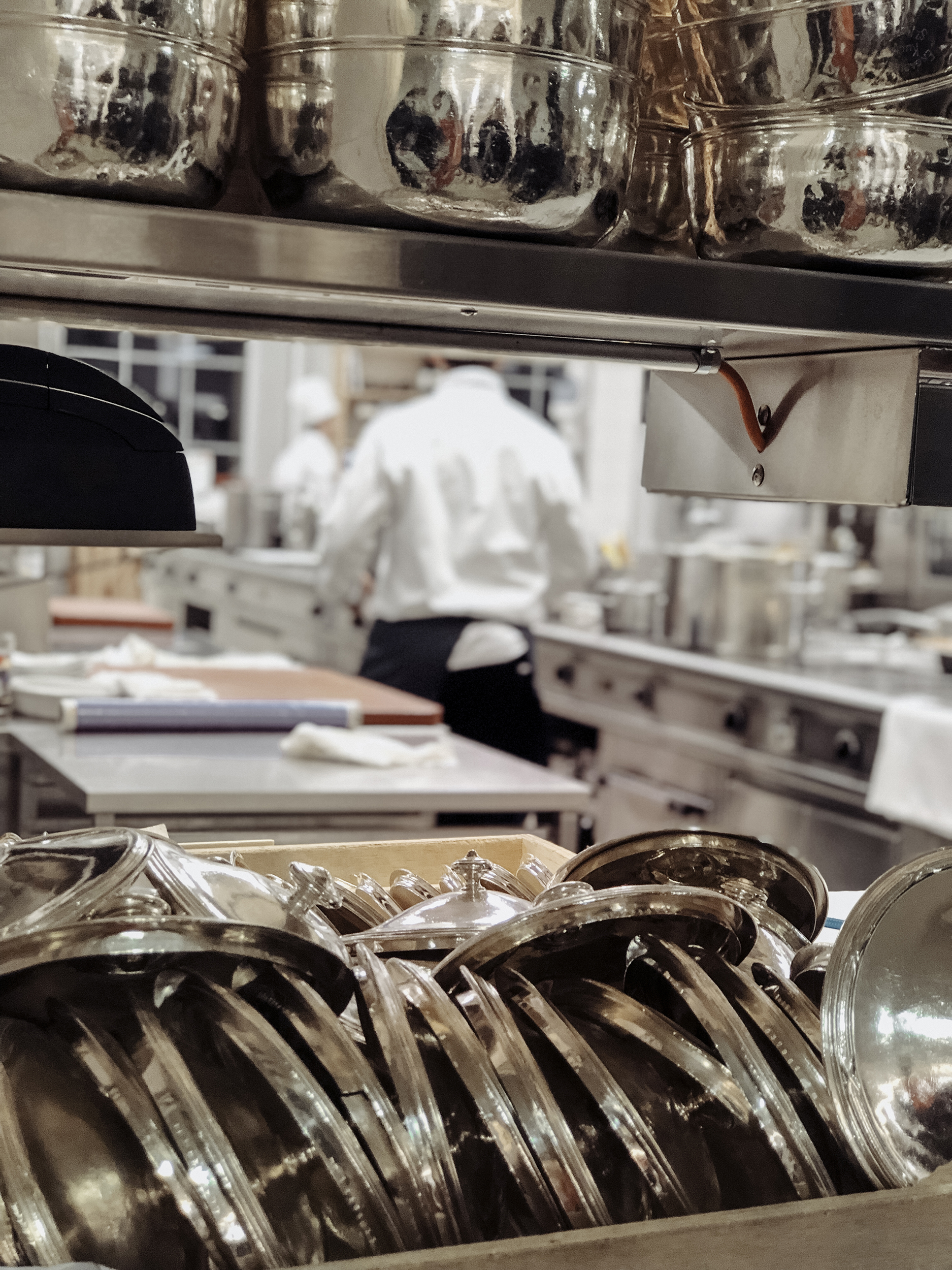 Inside the historic kitchen at Kulm Hotel