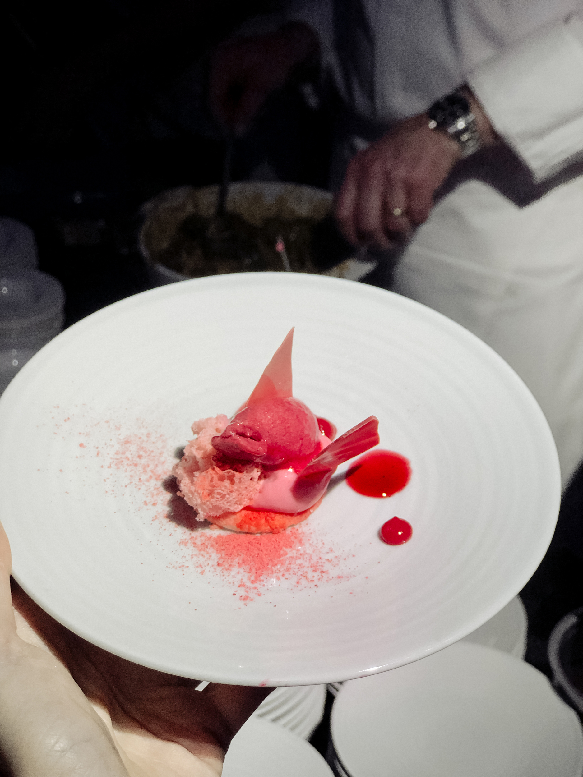 "Dessert ""La Vie en Rose"" with sorbet, currants, blackberries and lavender by Fabrizio Piantanida"