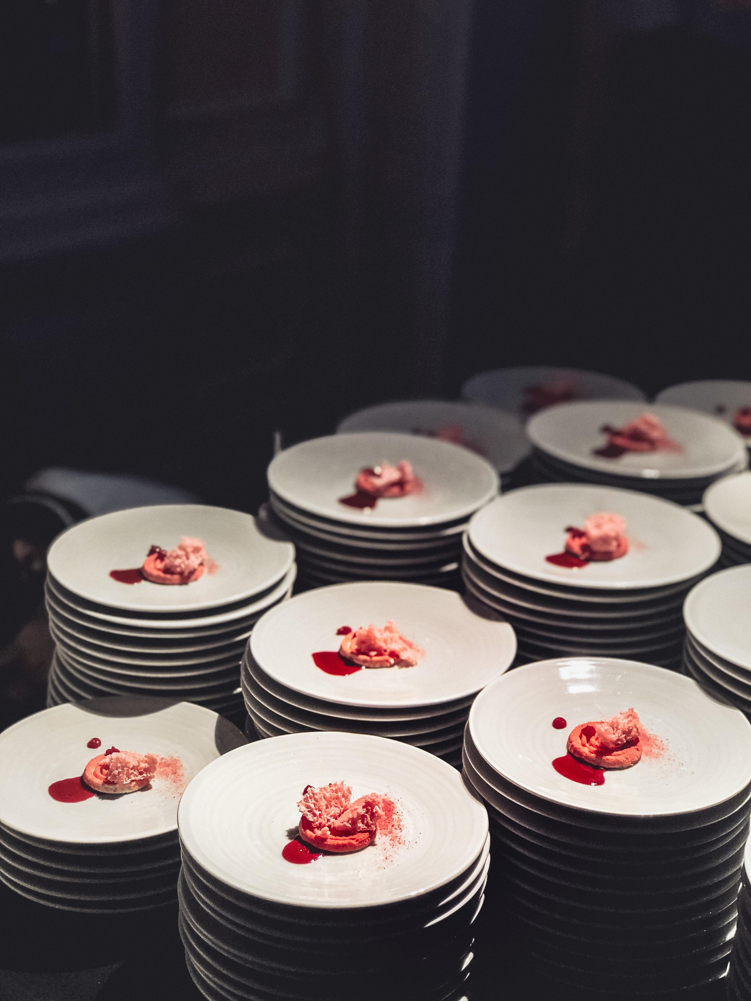 "Dessert ""La Vie en Rose"" with sorbet, currants, blackberries and lavender by Fabrizio Piantanida"