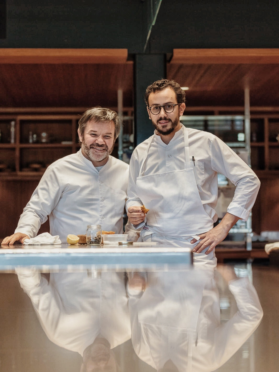 Cesar Troisgrois with his father chef Michel Troisgrois Image credit: Matthieu Cellard