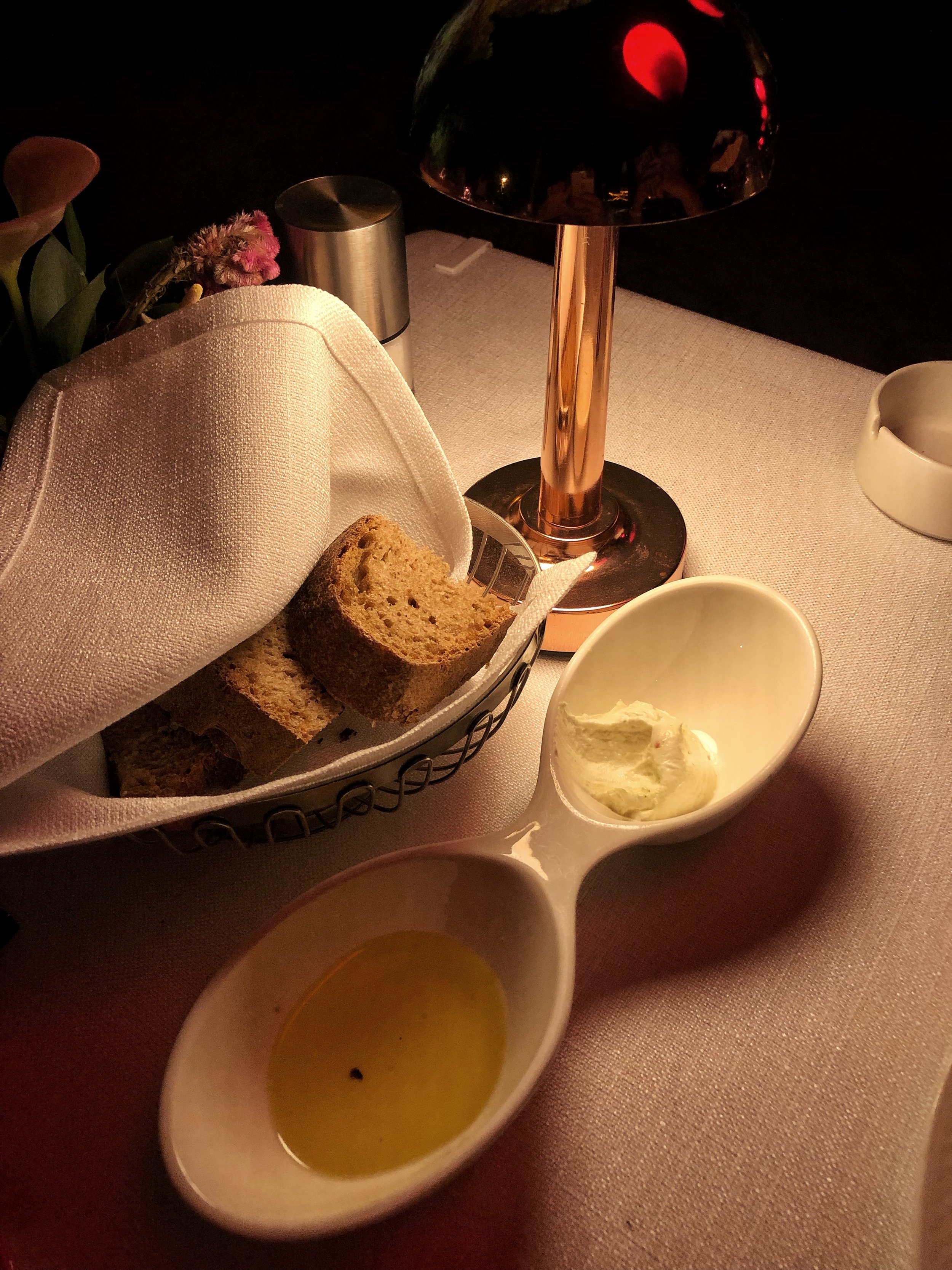 Bread and butter of Sunset Grill, Istanbul