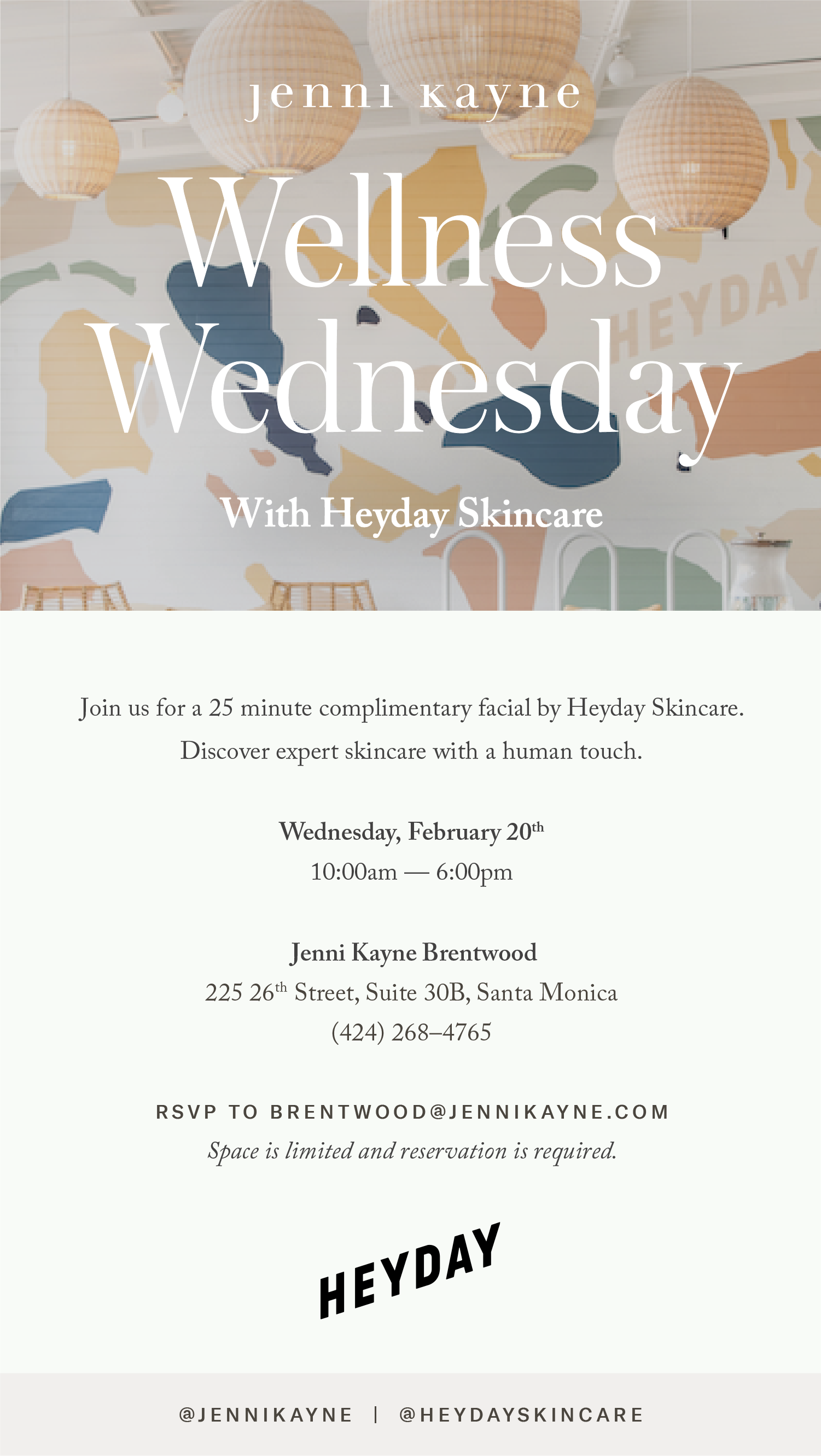 Brentwood  Wellness Wednesday with Heyday  February 2019.png