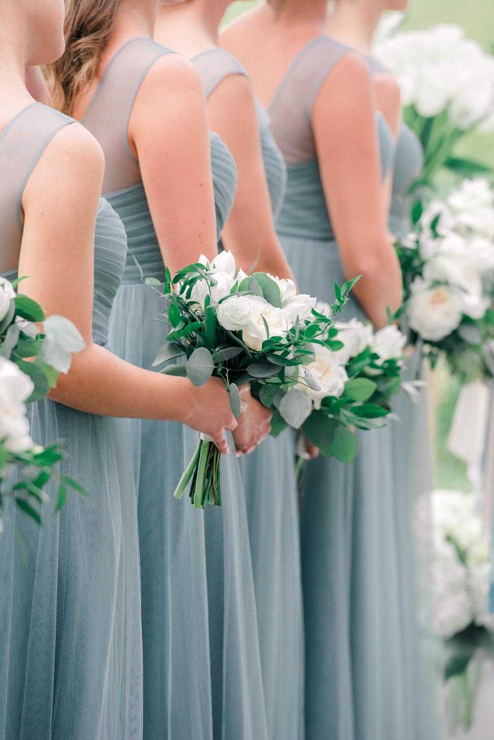 Sage green, blue, and cream wedding design in the low country in South Carolina. Wedding planning and design by A Charleston Bride.