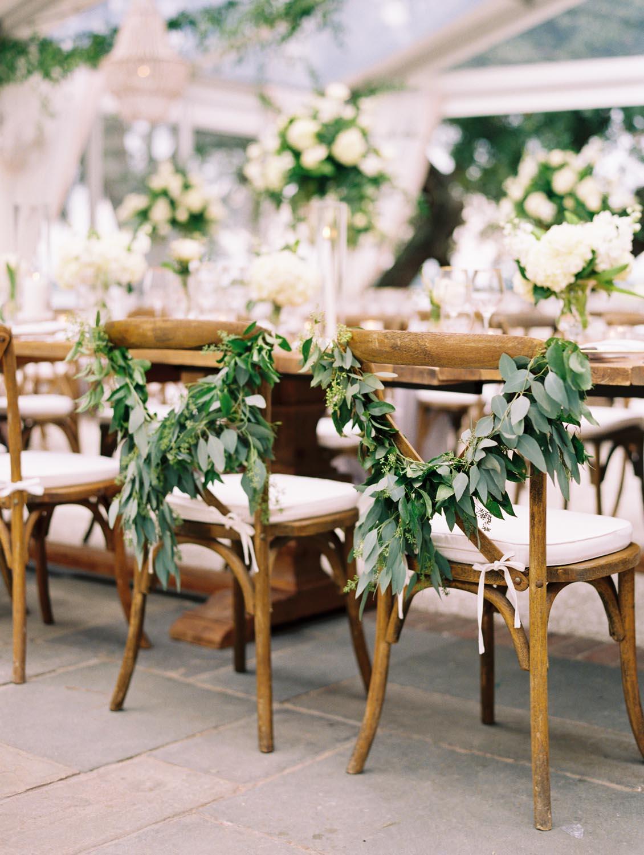 Cascading greenery & white floral Charleston wedding. Wedding planning and design by A Charleston Bride.