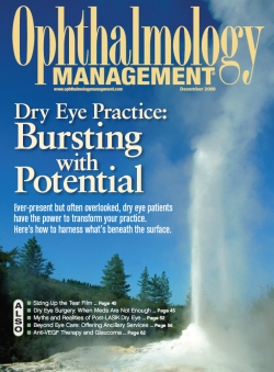 """Feature in special report from Ophthalmology Management, Dec. 2009. Highlights article from Dr. Maskin, MD, """"When Meds Are Not Enough: Surgical considerations for chronic dry eye"""" which gives guidance on dry eye and MGD diagnosis and treatment options, particularly focused on the individualized needs of each dry eye patient."""