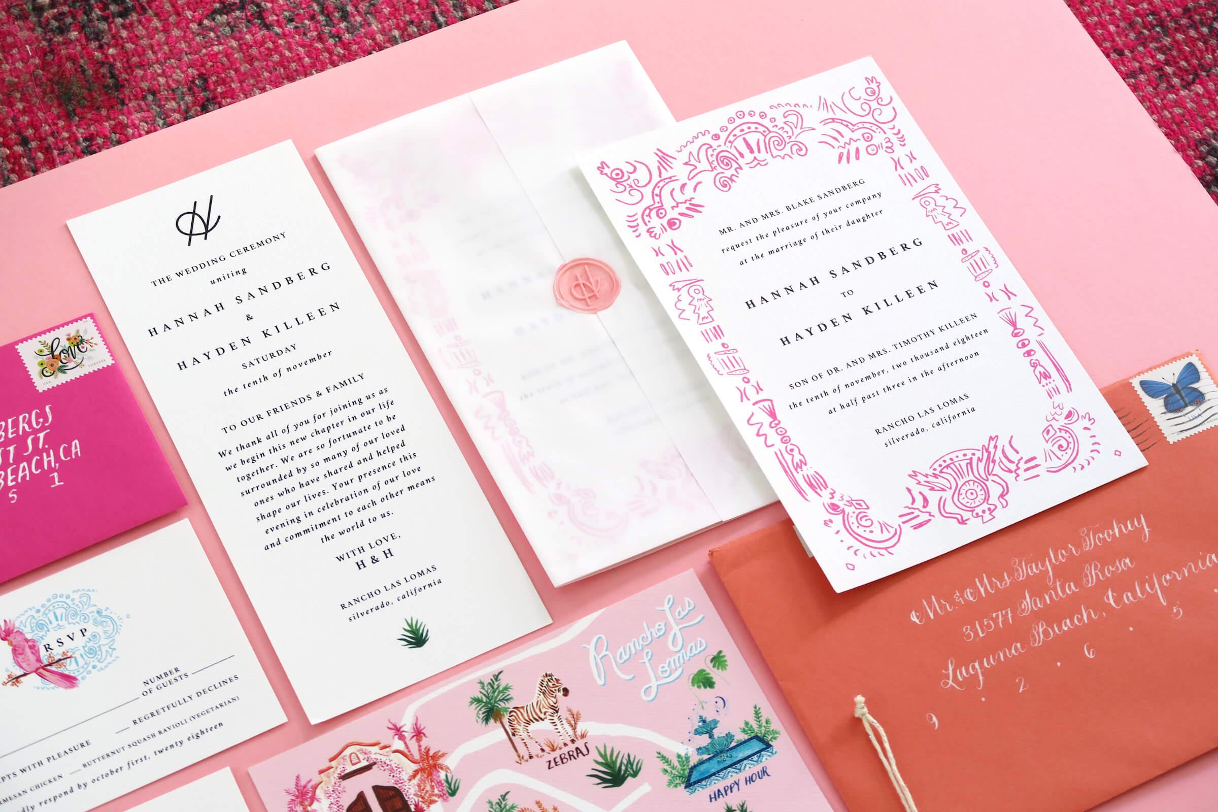 EVent design & paper goods - A Hidden Kingdom Love Story