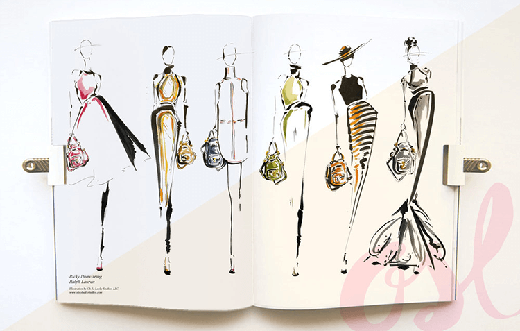 Live fashion illustration - Ralph Lauren: Ricky Bag Launch Series