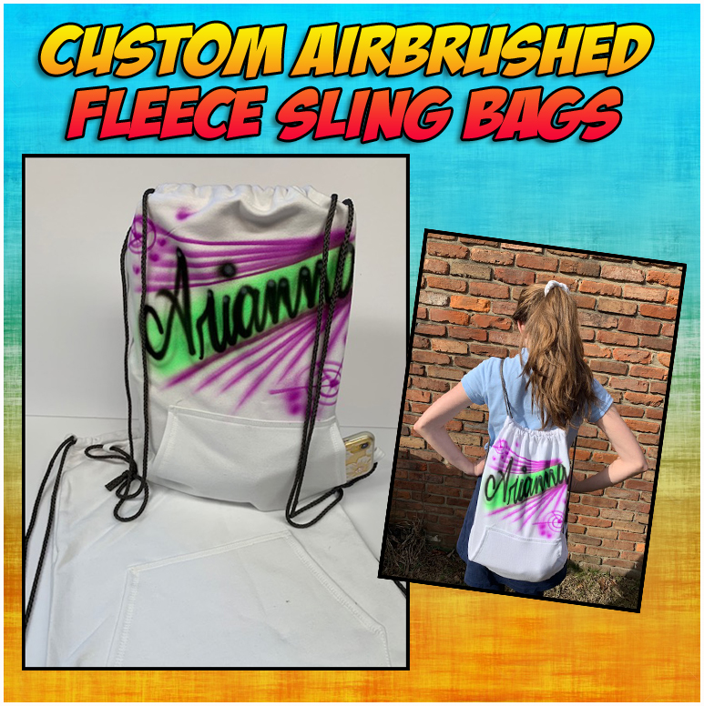 Fleece Sling Bags….great for overnights and day trips.