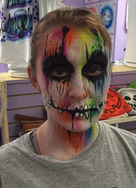 Scary color face $20-$30