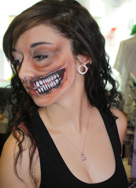 Half Zombie Face $15-$25