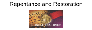 Repentance and Restoration