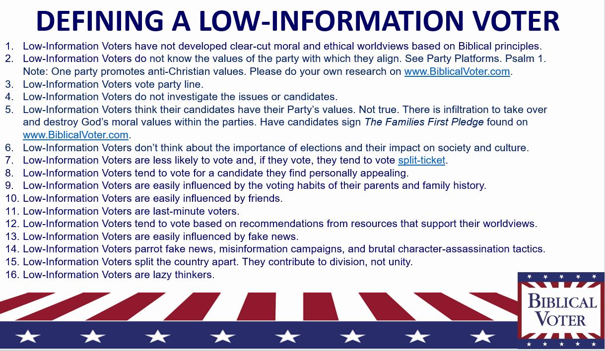 Major Party Platform Comparisons — Biblical Voter