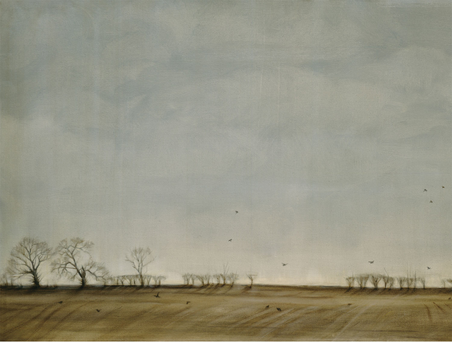 Hedgerow and Rooks (detail)