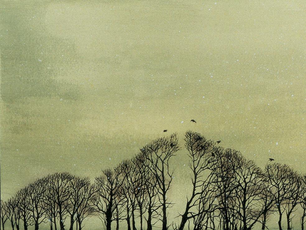 Roosting Crows (detail)