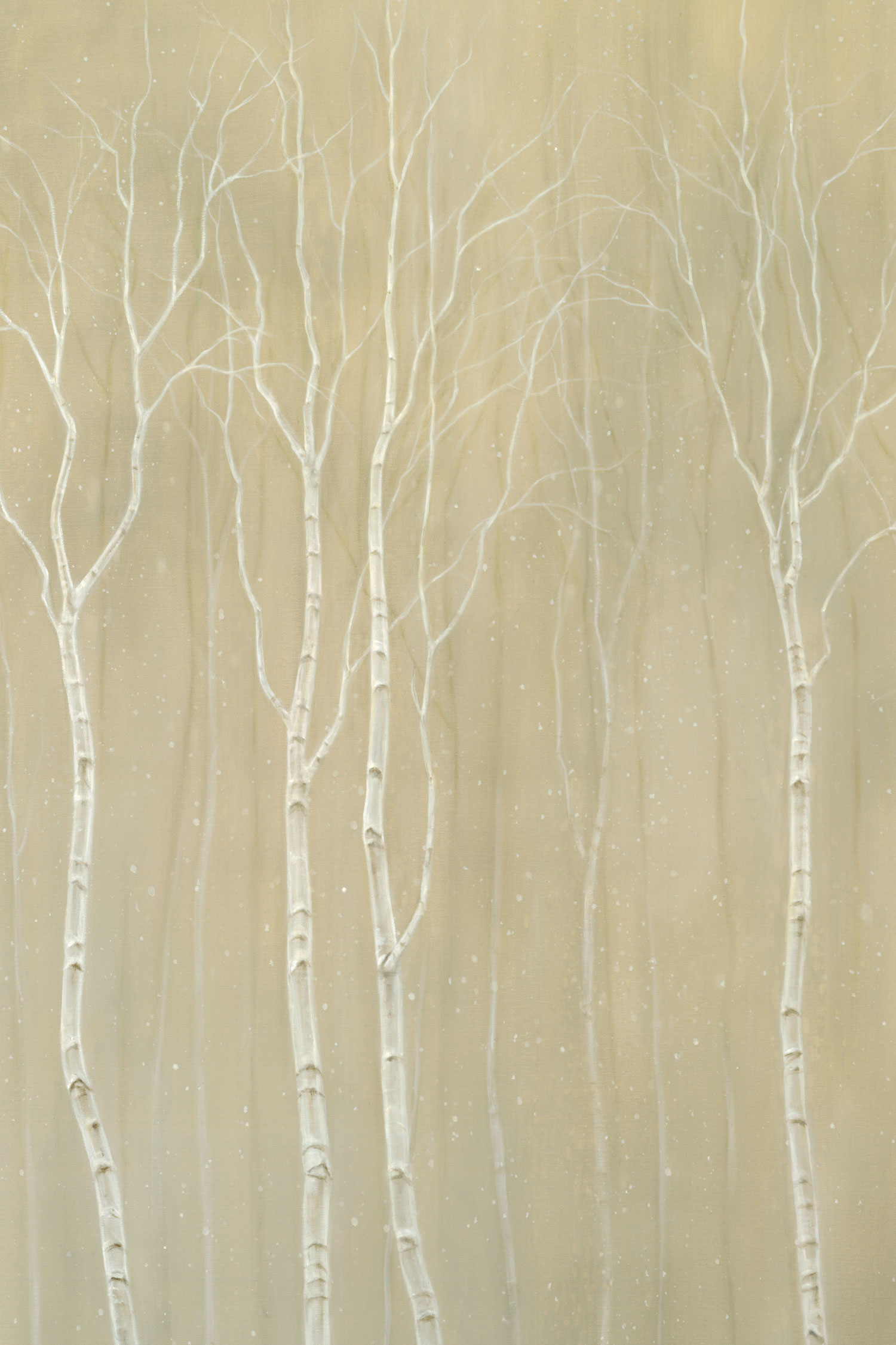 Snowy Birch Grove (detail)