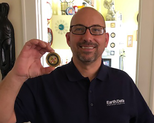 Giving Back - Earth Data's Construction Inspector, Bruce Strazza, saw his consistent giving recognized as part of a broadening awareness of the need to help those struggling with substance abuse and addiction.