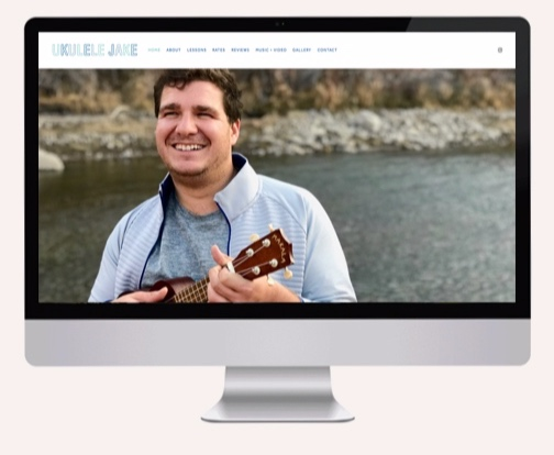 Capturing the authenticity and passion one young man has for playing his ukulele and teaching others to feel the music, I created the identity and web design for the  ukulelejake.com  startup business.
