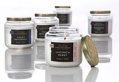 Branding and packaging design for the upscale CLCo. collection for Candle-lite.