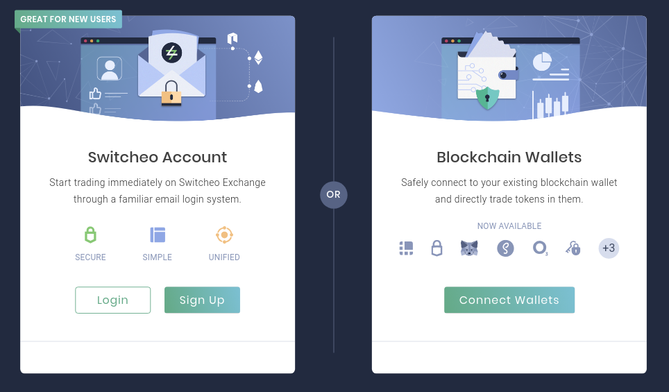 Access and trade your blockchain tokens through your preferred method