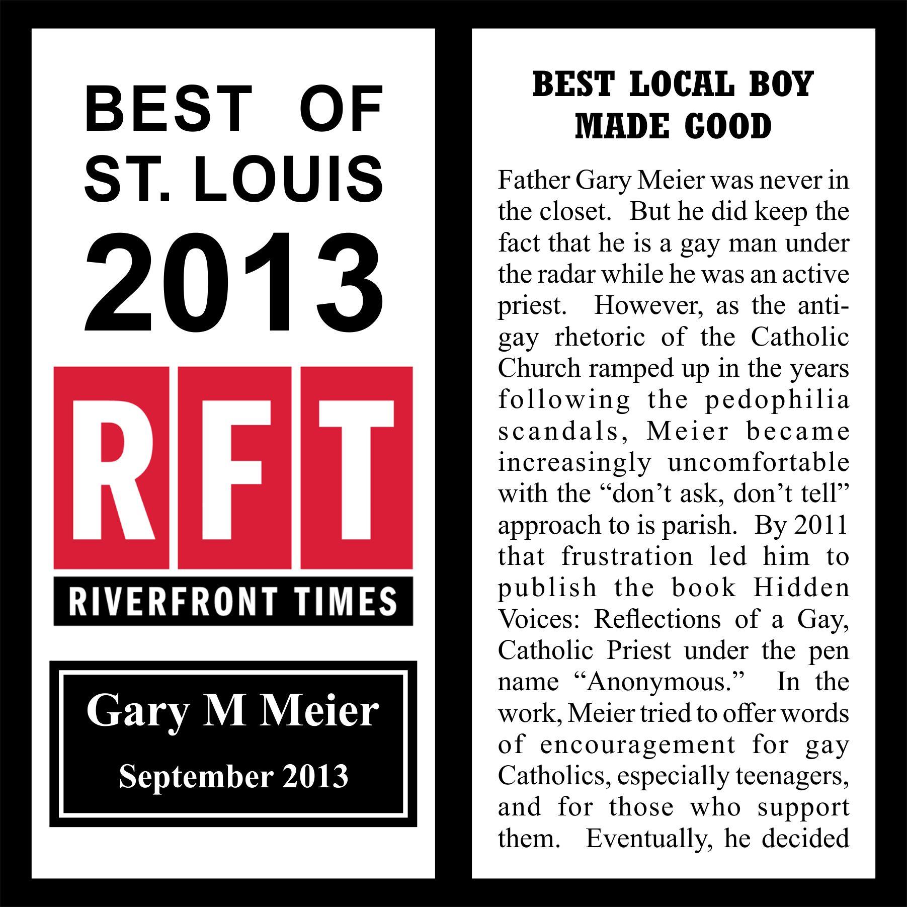2013 Best of St. Louis Award