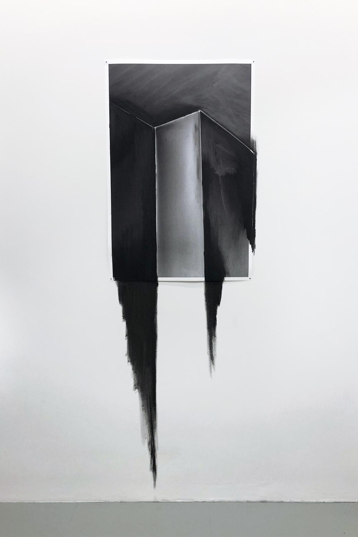 (Living) room, Concrete & charcoal, at Galerie Caroline O'Breen