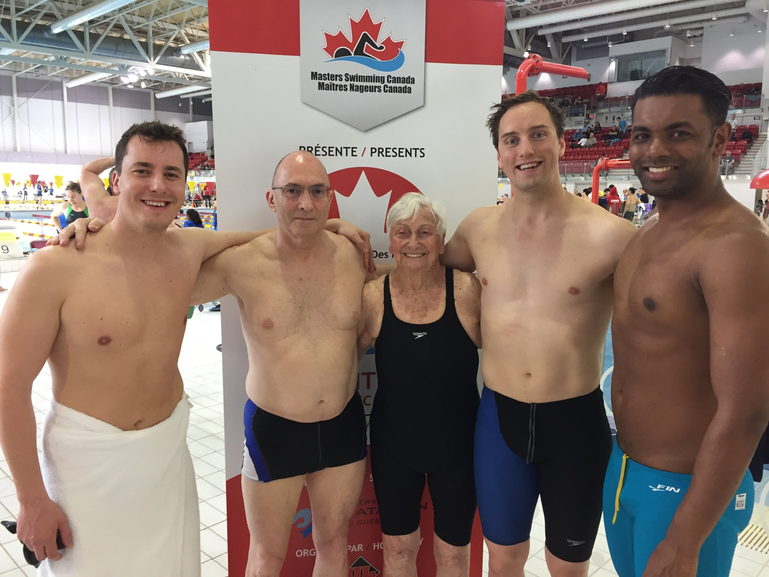 EOMAC at Masters Swimming Canada Nationals in Quebec City, 2016