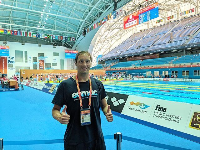 David Landry is in Gwangju, South Korea competing at the World Masters Swimming Championships. Today he placed 7th in the 200IM with a new PB time of 2:20.55!  #mastersswimming #gwangju2019 #gwangjumasters2019