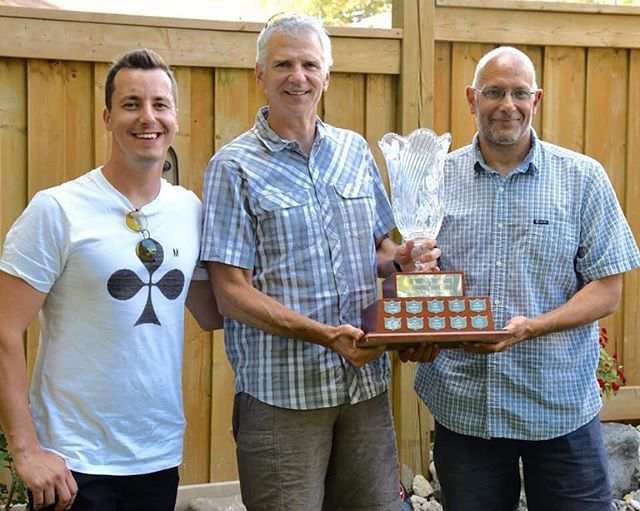 The annual EOMAC Awards were presented last weekend during our year end BBQ at the Kent's residence in Oakville.  These are the awards winners in case you missed it.  The Syd Fagan Trophy that you all voted on went to Marijana Morawski and Dave Landry.  The Most Improved Swimmer Trophy went to Naji Amini and Dave Freeman.  The Competitive Excellence and  Swimming Proficiency Trophy went to Kalis Rasmussen and  our 4 relay men who combined to achieve 3 Cdn Records at our Provincials in April - Nick Foster, Michael Macpherson, Dave Freeman and Tom Naylor.  The Charlie Lane Award went to Marijana Morawski and Joanne Kent.  Congratulations to all!!