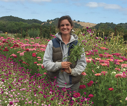 Joella - Flower Program Assistant ManagerJoella is so great.She knows nearly everything about botany, plant propagation, and California native plants and can tell you all about duck mating. She works exceptionally hard and always has a smile on her face.She keeps the plants happy and makes sure our orders go out complete and on-time.